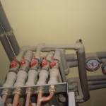 Часть системы автономного отопления крупного дома