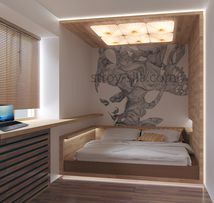 Перепланировка спальни в