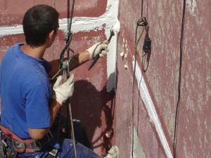 Устройство герметизации стыков стеновых панелей