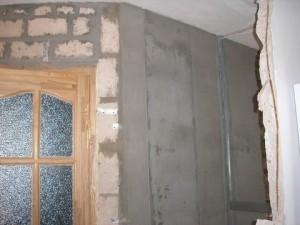 Возведение новых перегородок и стен