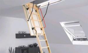 Деревянные чердачные лестницы Fakro (Факро): монтаж, установка, проектирование Днепропетровск